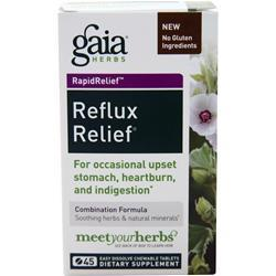 Gaia Herbs Reflux Relief 45 tabs