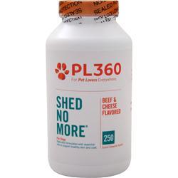 PETLABS360 Shed No More for Dogs Beef & Cheese Flavor 250 tabs
