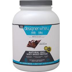 DESIGNER WHEY Designer Whey Protein Natural Gourmet Chocolate 4 lbs