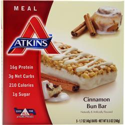 Atkins Meal Bar Cinnamon Bun 5 bars