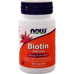 Now Biotin (1000mcg) 100 caps