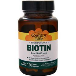 Country Life Biotin (5mg) 120 vcaps