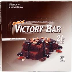 ISS Research Oh Yeah! Victory Bar Chocolate Fudge Brownie 12 bars