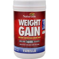 Naturade Weight Gain (No Sugar Added) Vanilla 40.6 oz