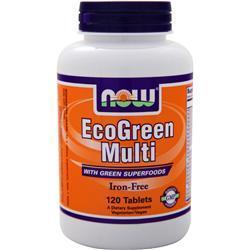 Now EcoGreen Multi - Iron Free 120 tabs