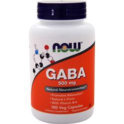 Now GABA (500mg) with B-6 100 caps