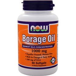 Now Borage Oil (240mg GLA) 60 sgels