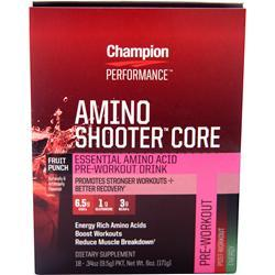 Champion Nutrition Amino Shooter Core plus Fruit Punch 18 pckts