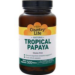 Country Life Tropical Papaya (Chewable) 500 wafrs