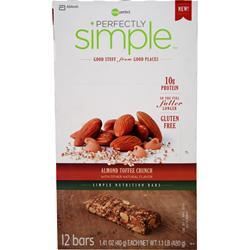 Zone Perfect Perfectly Simple Bar Almond Toffee Crunch 12 bars