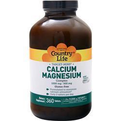 Country Life Target-Mins Calcium-Magnesium Complex 360 tabs