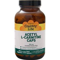 Country Life Acetyl L-Carnitine Caps (500mg) 120 vcaps
