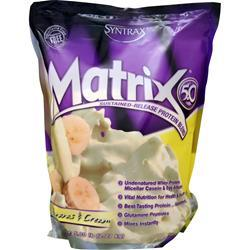 Syntrax Matrix 5.0 - Sustained Release Protein Bananas and Cream 5 lbs
