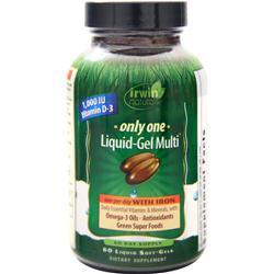 Irwin Naturals Only One Liquid-Gel Multi (with Iron) 60 sgels