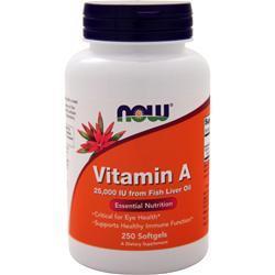 Now Vitamin A (25,000IU) 250 sgels
