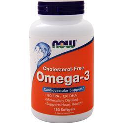 Now Omega-3 Cholesterol-Free (1000mg) 180 sgels