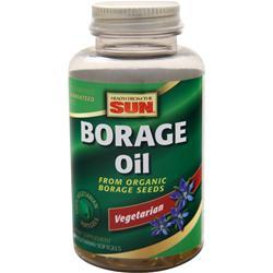 Health From The Sun 100% Vegetarian Borage Oil 60 sgels