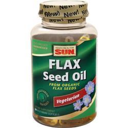 Health From The Sun 100% Vegetarian Flax Seed Oil 90 sgels