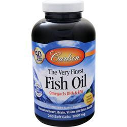 Carlson The Very Finest Fish Oil (1000mg) Lemon 240 sgels