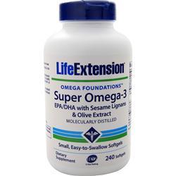 Life Extension Super Omega-3 EPA/DHA with Sesame Lignans & Olive Fruit Extract 240 sgels