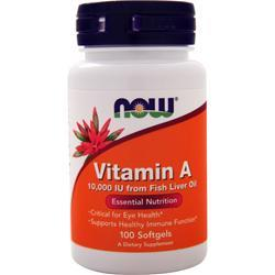 Now Vitamin A (10,000IU) 100 sgels