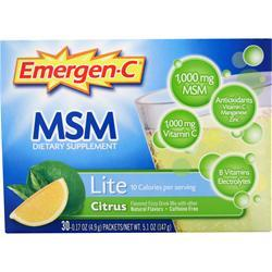 Alacer Emergen-C  Lite with MSM Citrus 30 pckts