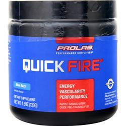 ProLab Nutrition Quick Fire Pre-Training Fuel Blue Razz BEST BY 9/17 130 grams