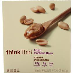 Think Thin Think Thin Bar Creamy Peanut Butter 10 bars