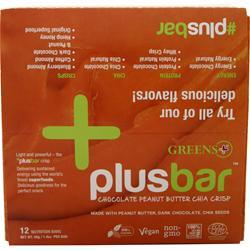 Greens Plus Vegan Crisp Bar Peanut Butter & Dark Choc 12 bars