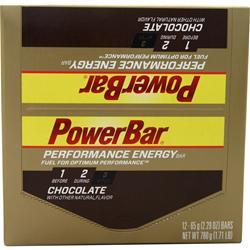 PowerBar Performance Energy Bar Chocolate 12 bars