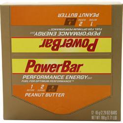 PowerBar Performance Energy Bar Peanut Butter 12 bars