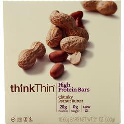 Think Thin Think Thin Bar Chunky Peanut Butter 10 bars