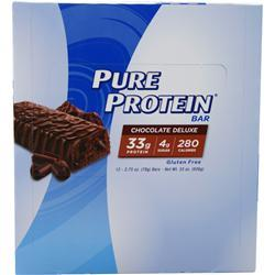 Worldwide Sports Pure Protein Bar Chocolate Deluxe 12 bars