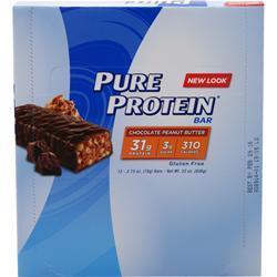 Worldwide Sports Pure Protein Bar Chocolate Peanut Butter 12 bars