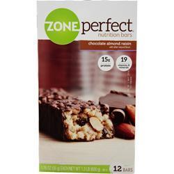 Zone Perfect Nutrition Bar Chocolate Almond Raisin 12 bars