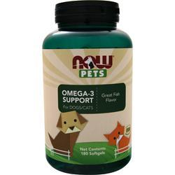 Now Pets Omega-3 Support for Dogs/Cats 180 sgels