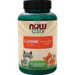Now Pets L-Lysine Powder for Cats 226.8 grams