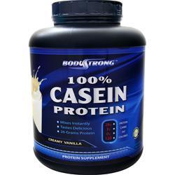 BodyStrong 100% Casein Protein Creamy Vanilla 5 lbs