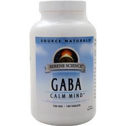 Source Naturals GABA (750mg) 180 tabs