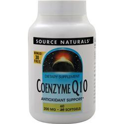 Source Naturals Coenzyme Q10 (200mg) 60 sgels
