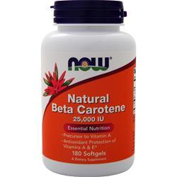 Now Natural Beta-Carotene (25,000 IU) 180 sgels