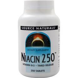 Source Naturals Niacin 250 - Timed Release 250 tabs