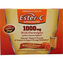 American Health Ester-C Effervescent (1000mg) Natural Orange 12 pckts