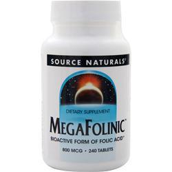 Source Naturals MegaFolinic (800mcg) 240 tabs