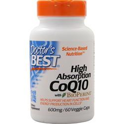 Doctor's Best High Absorption CoQ10 w/ Bioperine (600mg) 60 vcaps