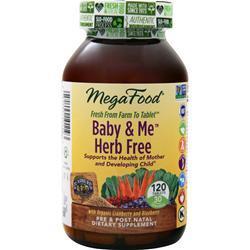 Megafood Baby & Me - Herb Free 120 tabs
