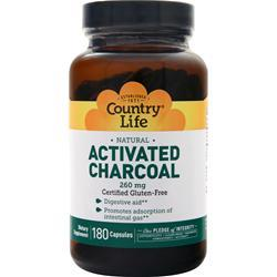 Country Life Activated Charcoal (260mg) 180 caps