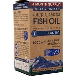 Wiley's Finest Wild Alaskan Fish Oil - Peak EPA 120 sgels
