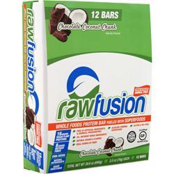 SAN Rawfusion Bar Chocolate Coconut Chunk BEST BY 8/14/19 12 bars
