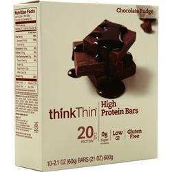 Think Thin Think Thin Bar Chocolate Fudge 10 bars